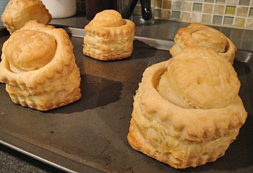 puff pastry shells after baking