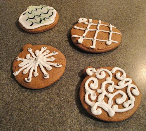 Ornament Gingerbread Cookies