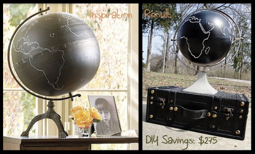 chalkboard globe
