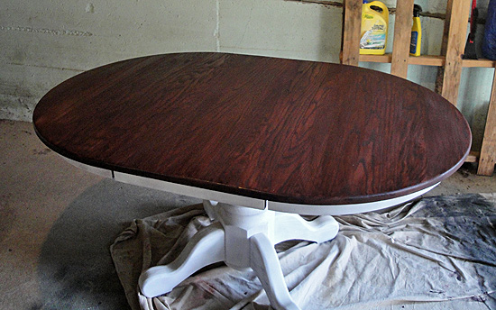 staining a table  the hyper house