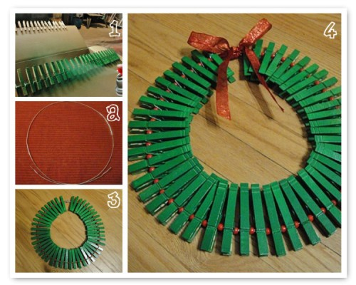 Christmas Card Wreath tutorial