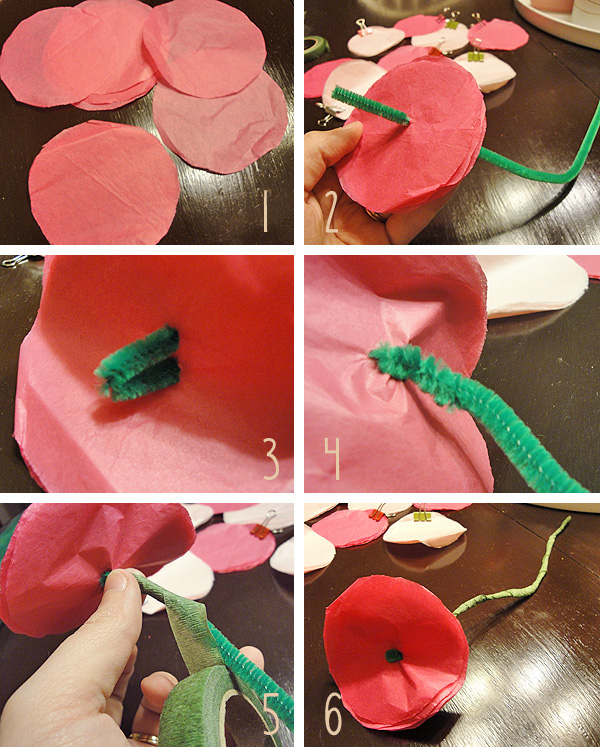 Diy Tissue Paper Flowers Step