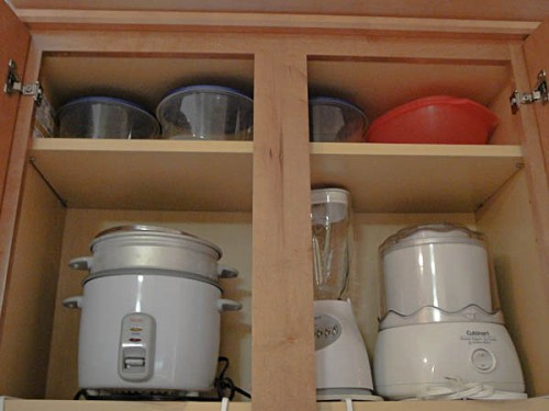 inside kitchen cabinets