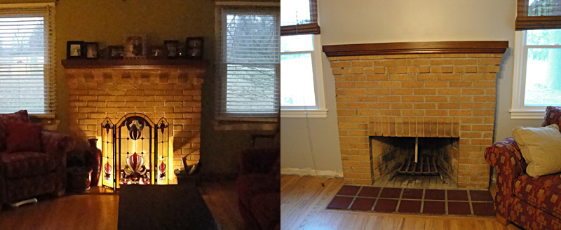 The next project on my list is conquering my massive fireplace. It needs a lot of work and I