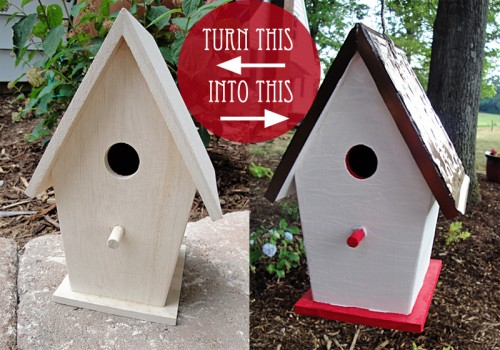 michaels birdhouse makeover