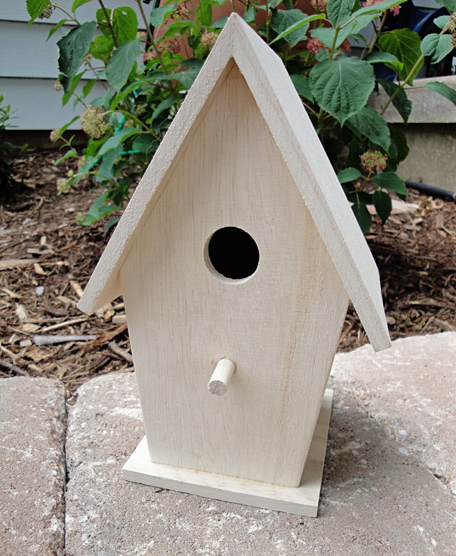Michaels birdhouse makeover the hyper house for Simple birdhouse