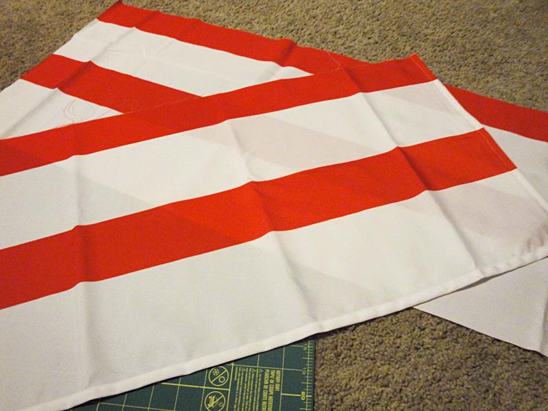 red white striped shower curtain. pillowcase cuts DIY Pillowcase  The Hyper House