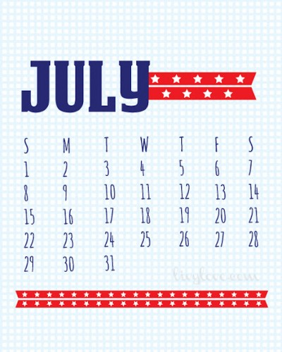 July calendar