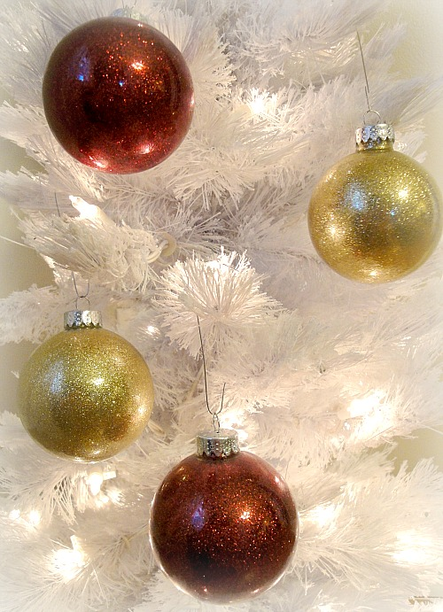 glitter ornaments