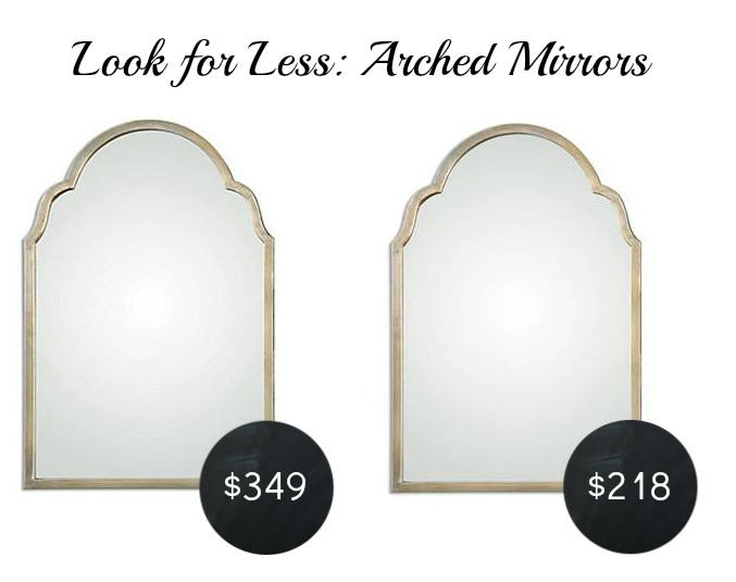 look for less arched mirror