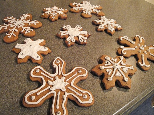 Snowflake Gingerbread Cookies