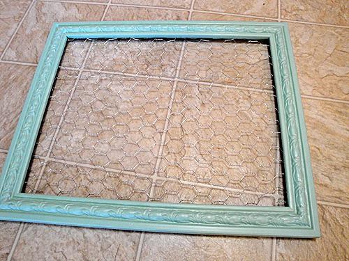 frame spraypainted in krylon catalina mist