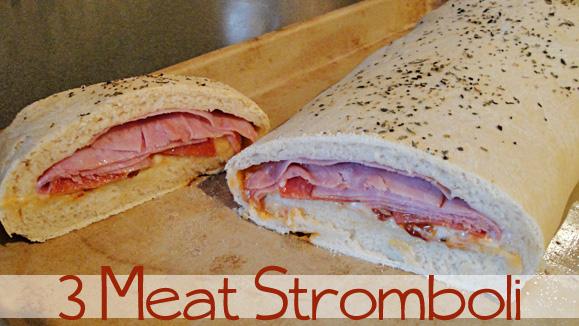 3 meat stromboli